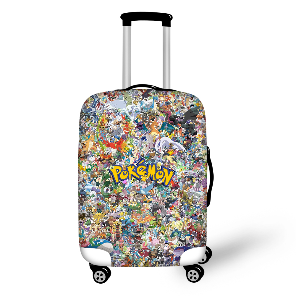 HaoYun Elastic Suitcase Cover Cartoon Pokemon Design Dust-proof Luggage Cover Kawaii Pikachu Luggage Protective Accessories