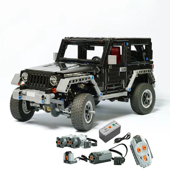 NEUE Technik serie RC Off-Road Jeep Wrangler Schwarz Auto Kompatibel mit MOC 8863 Bausteine set Pädagogisches geburtstage geschenke