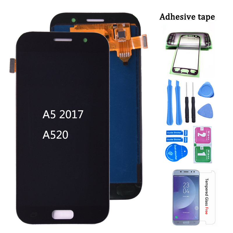 For SAMSUNG GALAXY A5 2017 A520 A520F A520K LCD Display With Touch Screen Digitizer Assembly Free Shipping