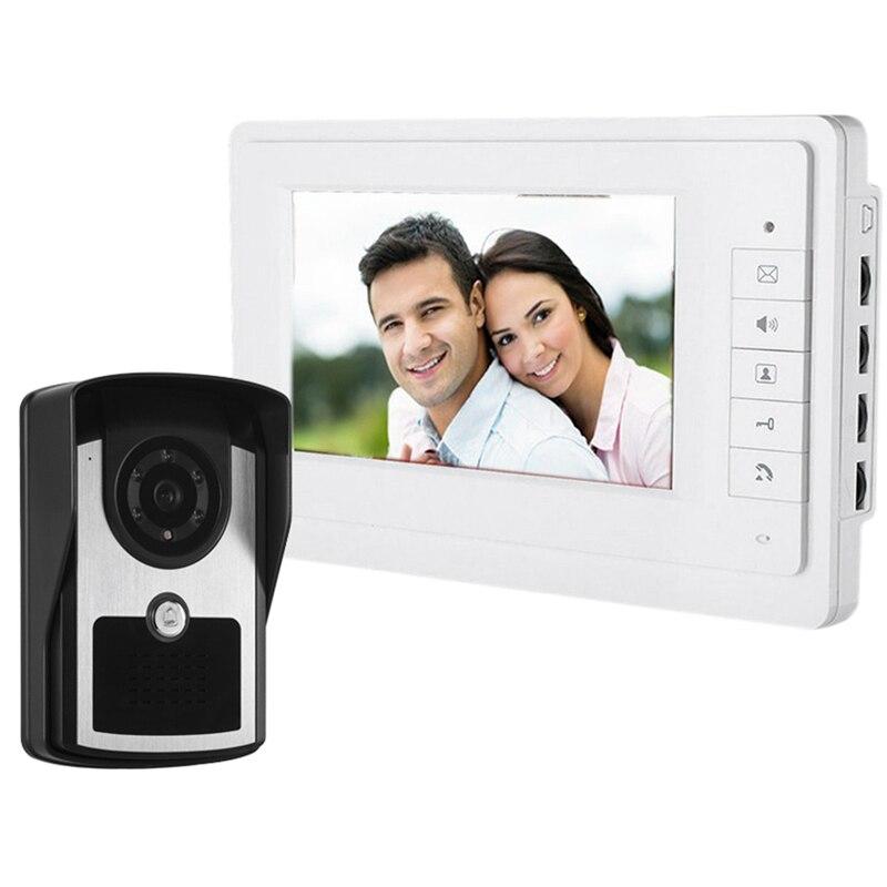 7-Inch TFT Color Display Cable Video Doorbell Intercom System(EU PLUG)