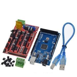 Image 2 - ShengYang Mega 2560 R3 Mega2560 REV3 + 1 adet rampaları 1.4 denetleyici için 3D yazıcı arduino kiti Reprap mendel prusa