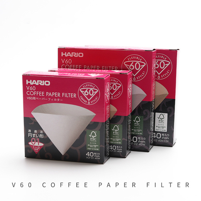Hario V60 Filter Coffee Paper 1-4 Cup for Specialized Cafe V60 Dripper Barista for Coffee Maker Hario Genuine Reusable Filters 1