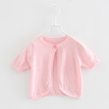 2020 Pink Summer Baby Sweater Jacket Girls Cardigan Beach Sh