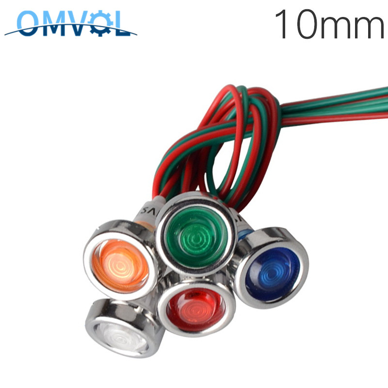 12v Wire Signal Lamp Red Green Yellow 10mm Indicator Light