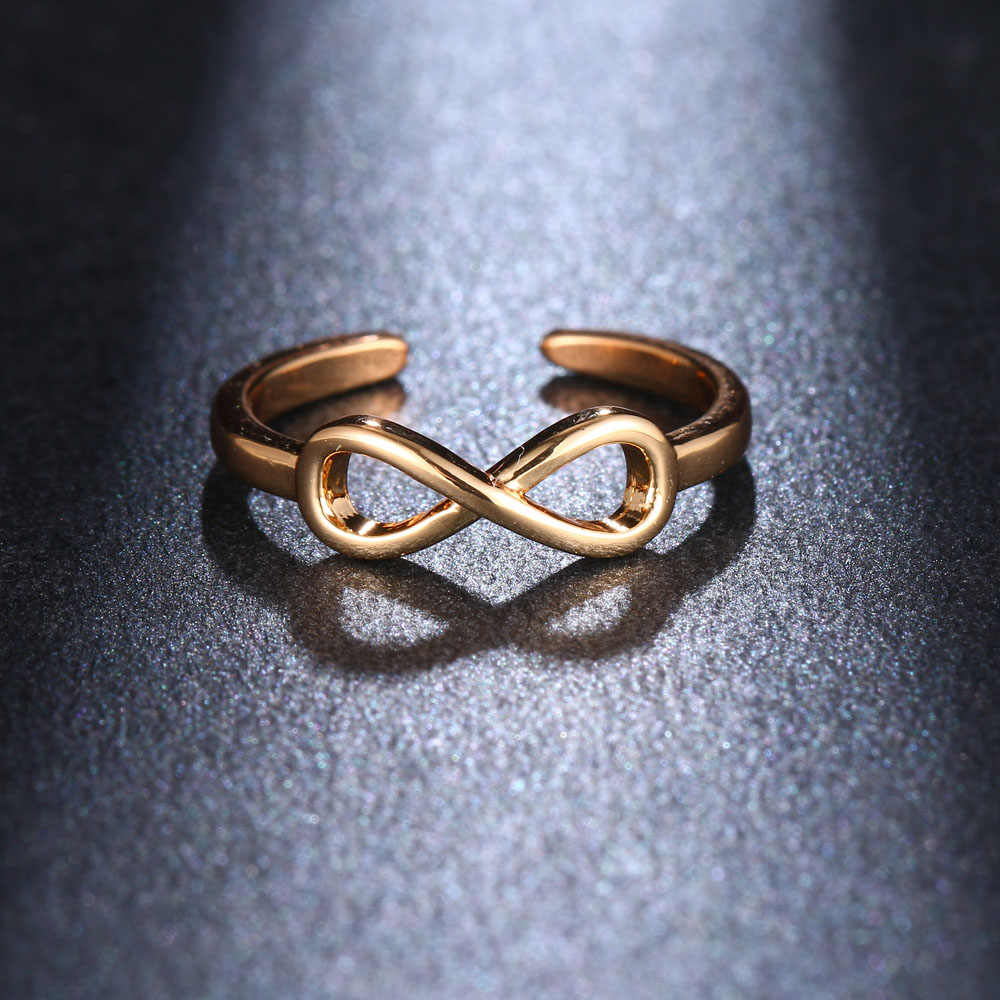Tiga Warna Yang Cekung Bunga Bentuk Terbuka Cincin Desain Lucu Fashion Cinta Perhiasan untuk Wanita Gadis Muda Anak Hadiah dapat Disesuaikan