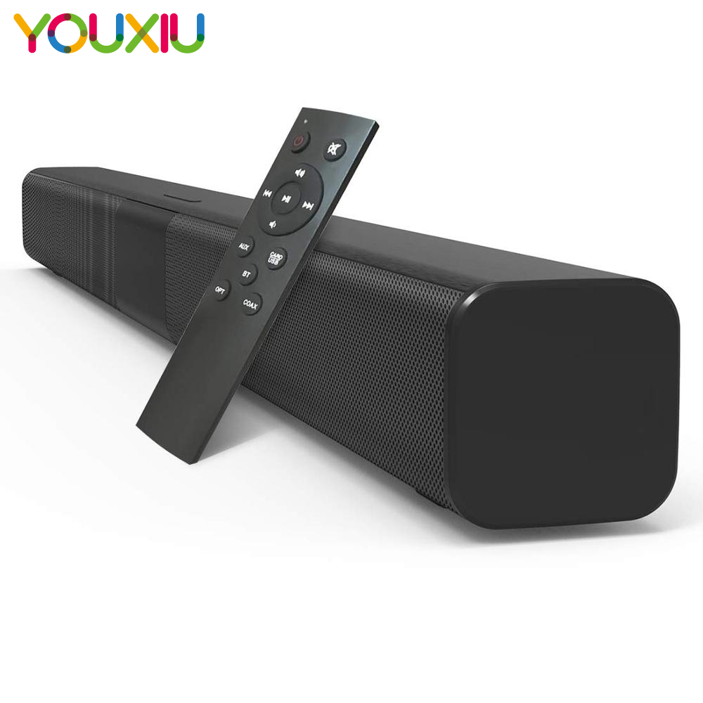 50W TV Soundbar Wired and Wireless Bluetooth 5.0 Speaker Home Theater Stereo Sound Bar Built-in Subwoofers with Remote Control 1