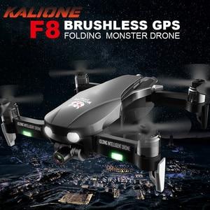 Image 1 - F8 Anti shake Gimbal Drone 4K 5G WIFI GPS Drones kamera ile HD 1 km quadcopter SD kart drone profesyonel VS SG907 L109