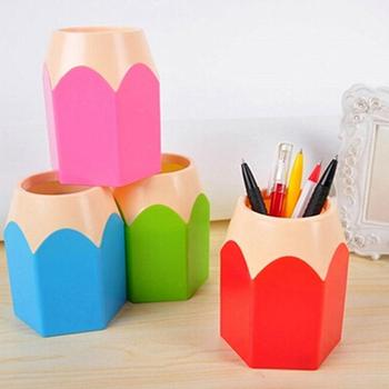 Creative Pen Vase Pencil Pot Makeup Brush Holder Stationery Desk Tidy Container image
