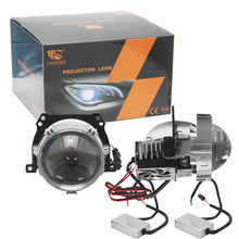 SHUOKE 2 PCS 2.5 LHD RHD RX9 Bi LED Biled Projector Car Lens Universal Car LED Headlight for BMW E46 Convertible Kia Ceed JD optima premium biled lens professional series