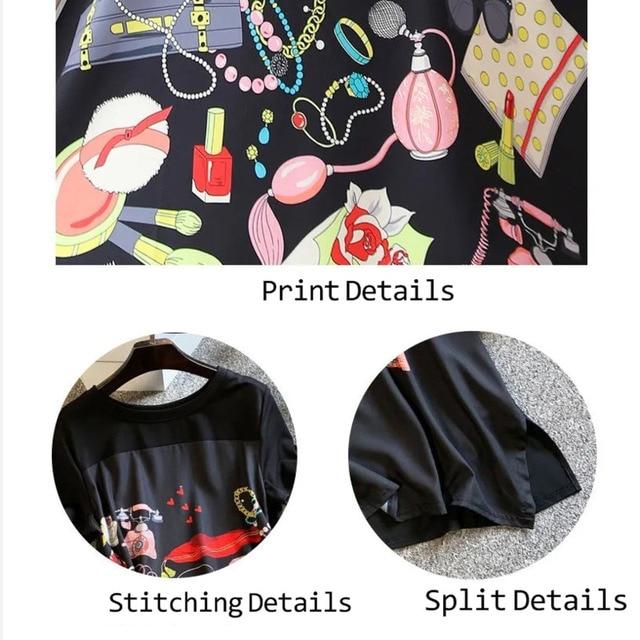Casual Long Dress Short Sleeves Loose Vintage Spliced Floral Pattern  6
