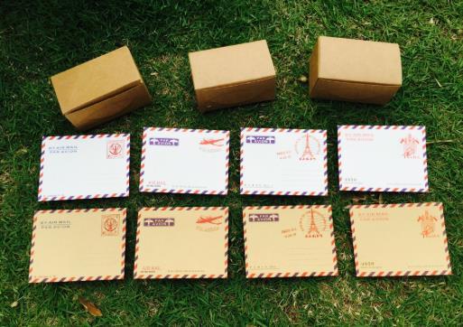 20 PCS\lot  Kraft Paper \ White Mini Vintage ArchitectureWallet Envelope Postcard Letter Retro Large School Student Coloffice St