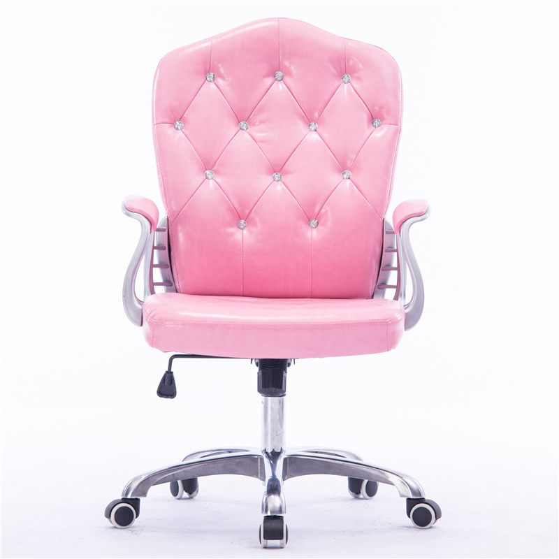 European Princess Powder Computer Chair Home Office Student Lift Swivel Chair Boss Study Room Chair Broadcast Live Seat