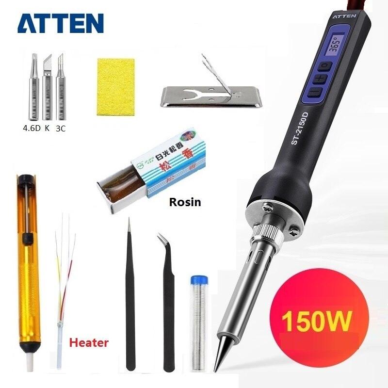 ATTEN 80 W/150 W Station de fer à souder électrique 110V 220V avec affichage LCD numérique pointes de fer à souder réglables en température