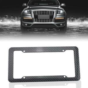 KKMOON Car-License-Plate Frames Rear-Bracket Carbon-Fiber-Style for Front