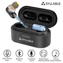 SYLLABLE-auriculares inalámbricos S101 Plus con bluetooth V5.2, cascos de graves con Chip QCC3040, control de volumen