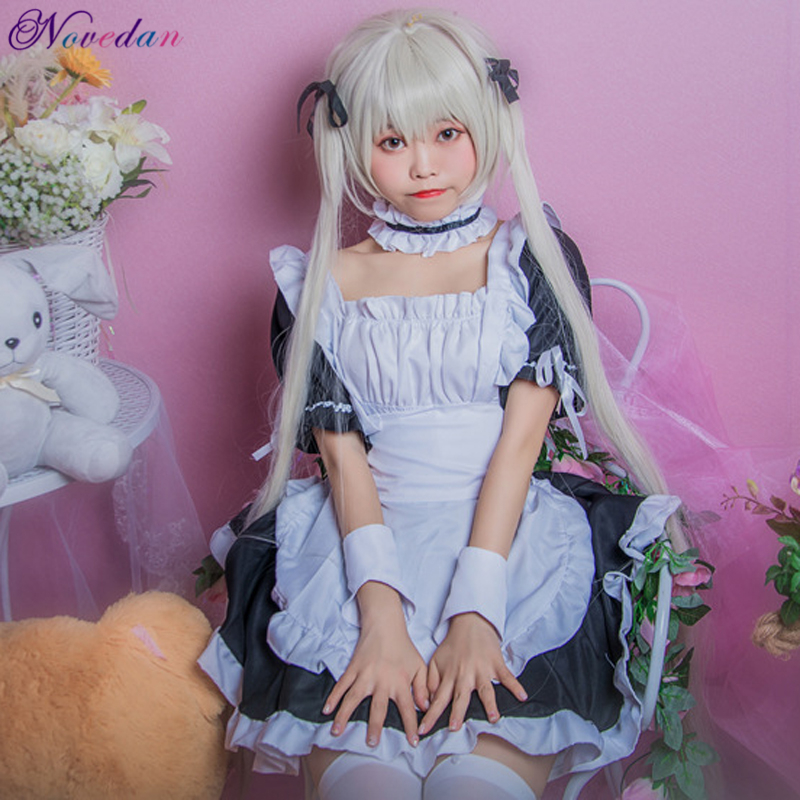 Anime Yosuga No Sora Cosplay Sissy Maid Costume Gothic Sweet Lolita Dress Girls Women's Halloween Costumes