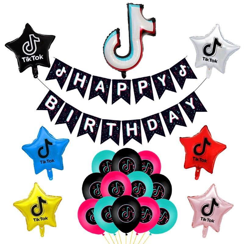 ПРИМЕЧАНИЕ большой Фольга воздушные шары для танцев тик латексные шары для диджеев с изображением баннер на день рождения вечерние украшен...