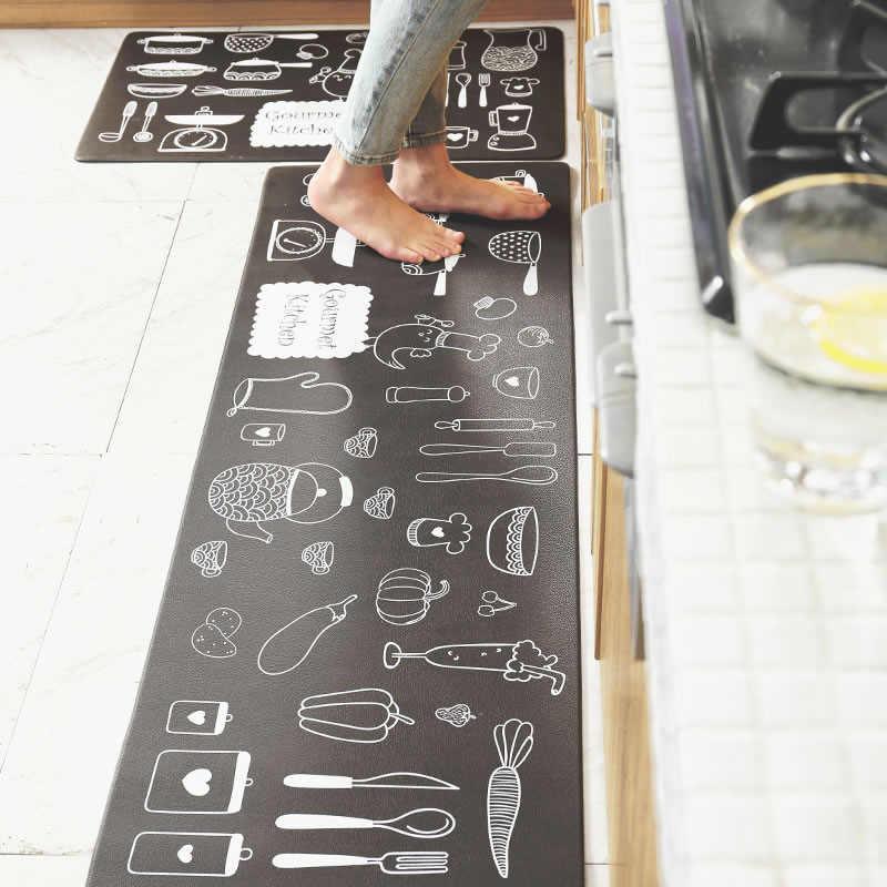 45*120 cm küche teppiche fleece carpet cartoon waschraum carpet huhn startseite matte fische kurzhülse plüsch hause carpet cartoon katze anitslip