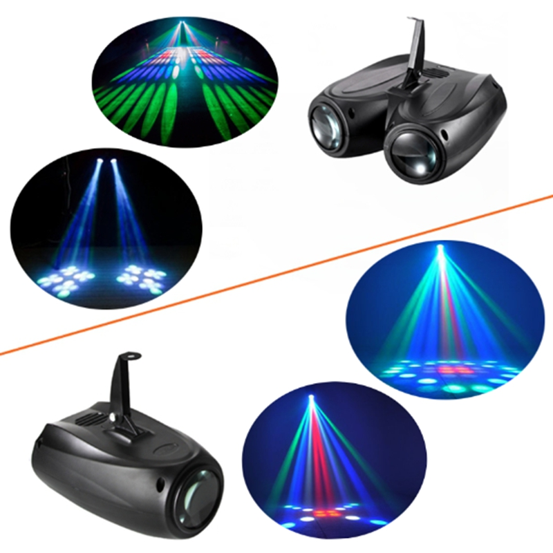 Led Disco Light Double/Single Head Airship Flash Stage Light Effect 64/128 Voice Control Projector For Party KTV DJ Wedding Club