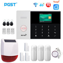 PGST PG105 4G & 3G Tuya Alarm System PIR Wireless Siren Home Burglar Security Alarm Smart Home Kit SmartLife App Remote Control