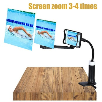 Mobile Phone High Definition Projection Bracket Adjustable Flexible All Angles Phone Tablet Holder 3D HD Screen Magnifier 5