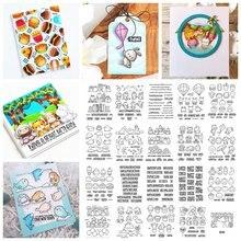 Мини штампы с изображениями животных гномов еды прозрачные для