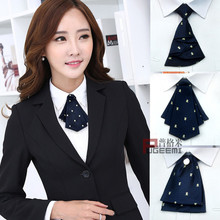 Special fashion professional collar tie womens college style Japanese and Korean students uniform lead flower bank bow