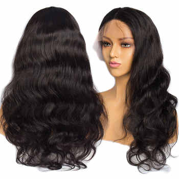 ALIBELE 毛 360 レースフロントかつら 150 密度で事前摘み取らレミーブラジル実体波人毛かつら黒人女性のための