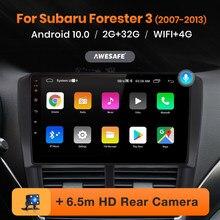 Reprodutor de vídeo multimídia de rádio do carro de navegação gps dvd android 10 nenhum 2 din 2din awesafe px9 para subaru forester 3 sh impreza gh ge