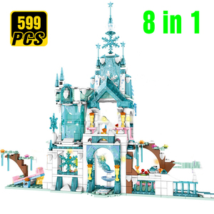 Princes Ice Snow Queen Magic Castle Model Building Blocks Friend Carriage Figures Educational Toys Brick Girl Children(China)