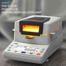 Medidor de umidade de halogênio, analisador rápido de umidade