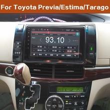 """LEEWA """" Большой HD экран Android 8,1 четырехъядерный автомобильный медиаплеер с gps Navi Радио Для Toyota Previa/Estima/Tarago 2010"""