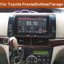 """LEEWA 9 """"más grande de pantalla HD Android 8,1 Quad Core coche reproductor de medios con GPS Navi Radio para Toyota Previa/Estima/Tarago 2010-2018"""