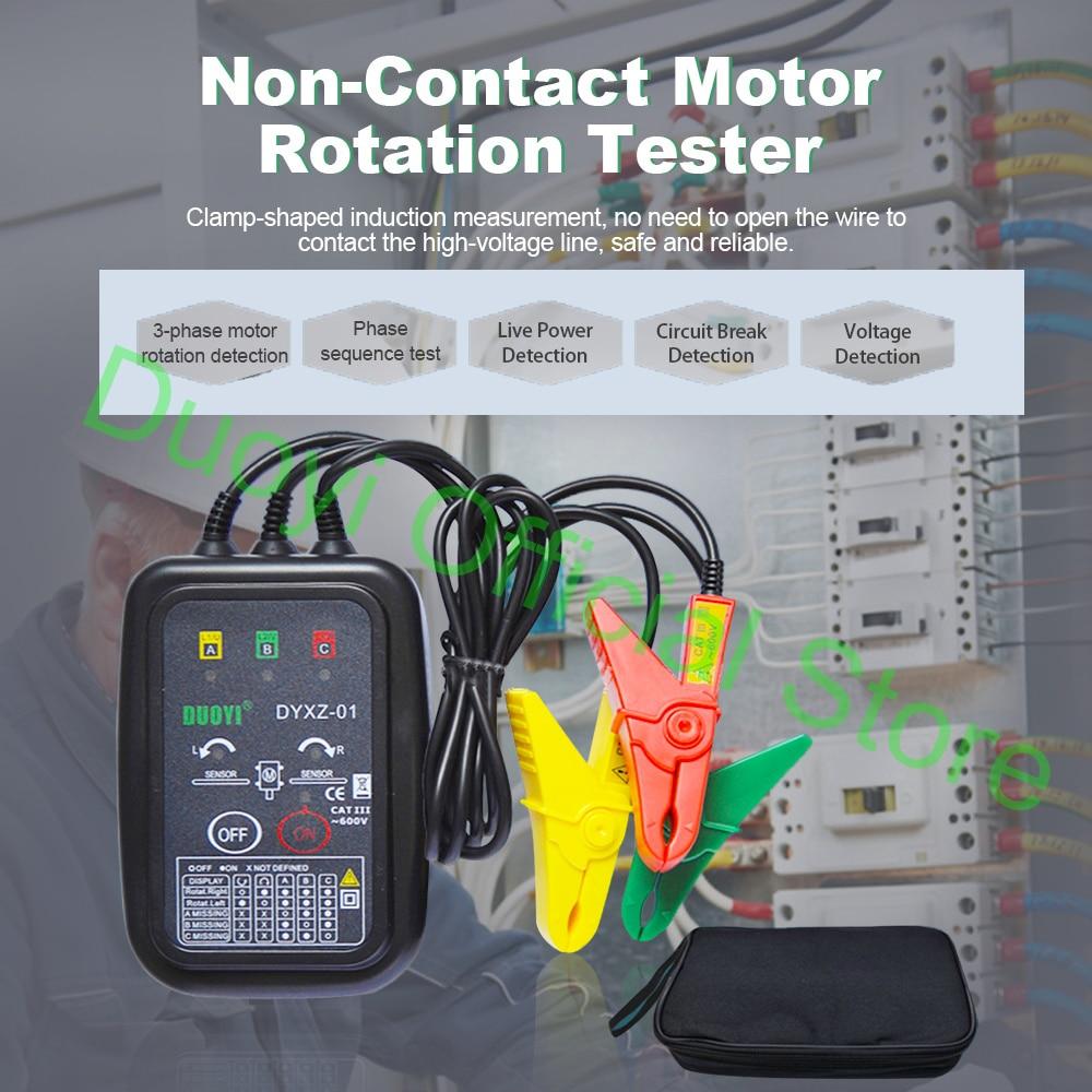 DUOYI DYXZ-01 Phase Detectors 3 Phase Sequence Circuit Tester Break Test Voltage Detection AC Voltage Fire Line Dete