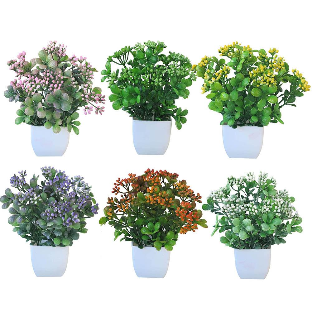 1Pc Potted Artificial Flower Vivid Simulation Flowers Stage DIY Decor Garden Wedding Home Party Decoration Props Stages