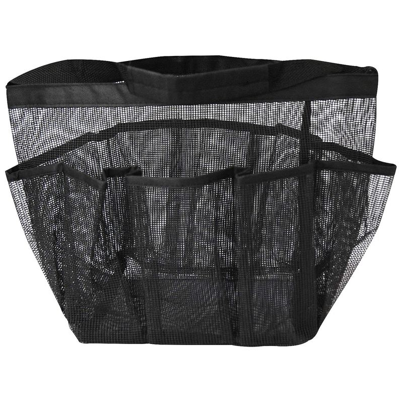 Mesh Shower Caddy  Quick Dry Shower Tote Bag Oxford Hanging Toiletry and Bath Organizer with 8 Storage Compartments for Shampoo  Bags & Baskets     - title=