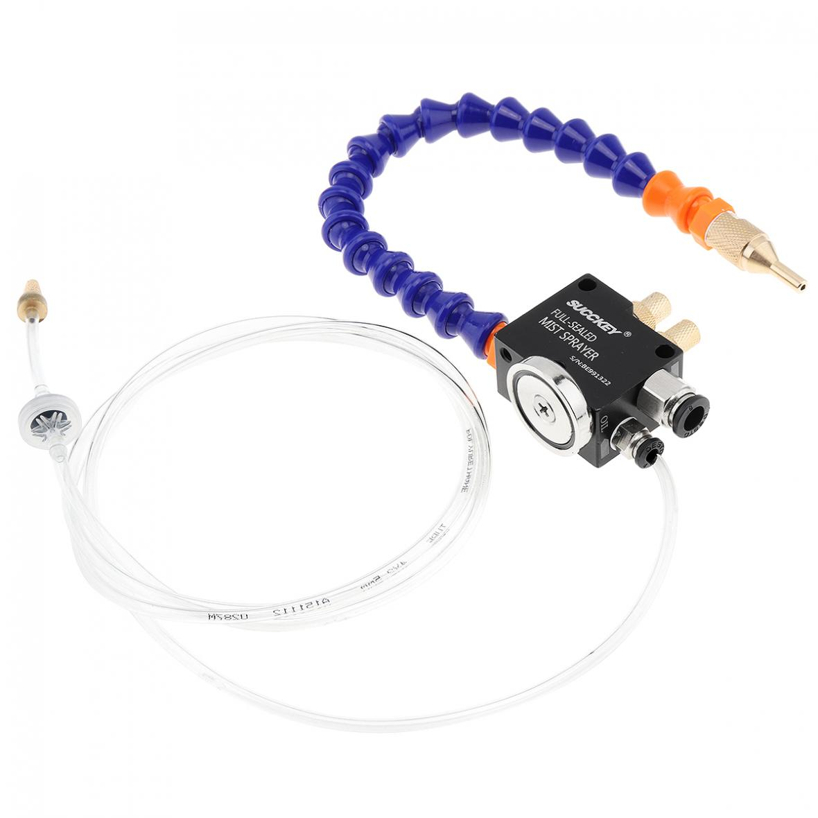 Mist Coolant Lubrication Spray System w// 1.5m Flexible Pipe/&Check Valve For CNC