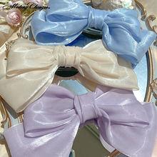 Модные яркие заколки для волос 1 шт шелковая пряжа с кристаллами