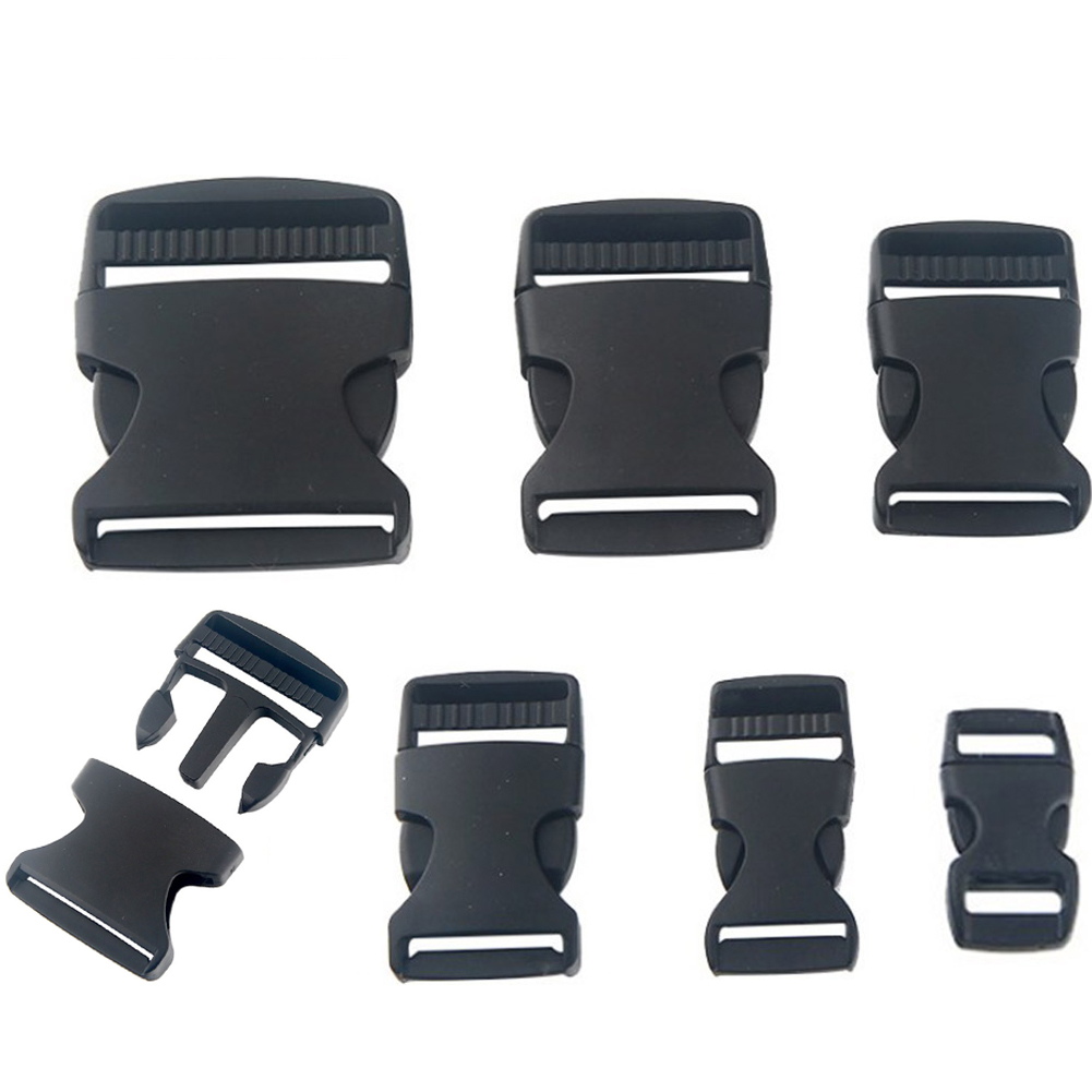 Webbing Backpack Bag Strap Side Release Clips Buckles Adjustable Black Plastic Release Buckles Clasp 10-50mm Bags Accessories