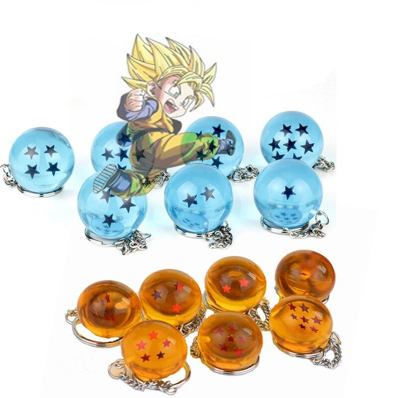 Bonito jóias bugigangas anime diy feito à mão goku z 1 7 7 estrelas chaveiro chaveiro chaveiro chaveiro chaveiro chaveiro