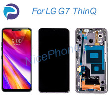 for G7 ThinQ lcd screen 3120*1440 touch digitizer display assembly replacement with frame G710, LM-G710N/VM,SM-G710 G7 ThinQ LCD(China)