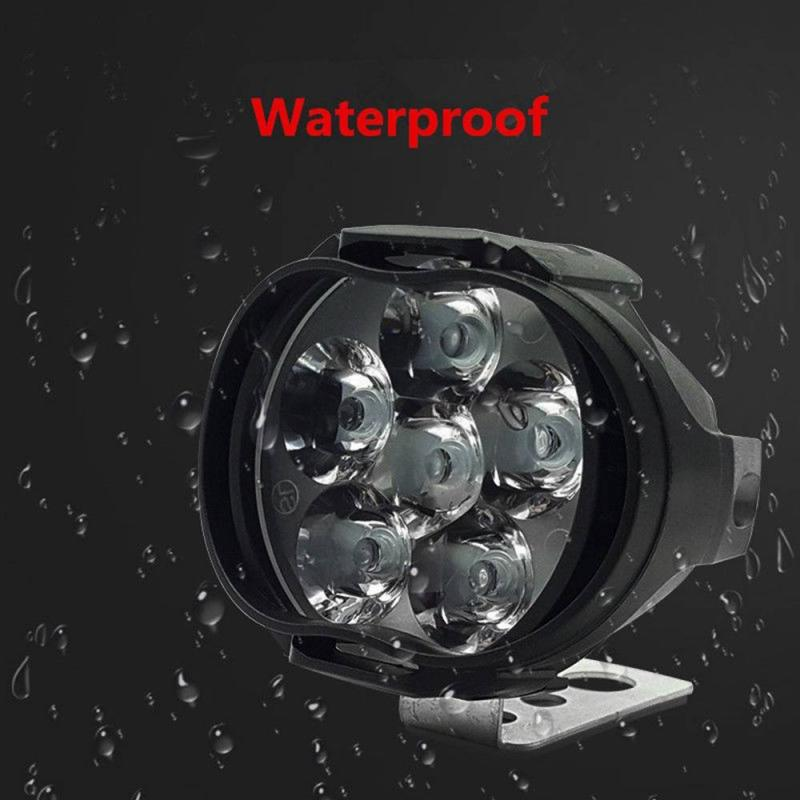 10W 1300ML 9 LED Motorcycle Headlight Bulb Lamp IP67 Waterproof Motor Bike Light 6000K White Light Motor Scooters FogLight TSLM1