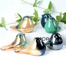 Kreatywne szklane ozdoby na ptakie sliczne na bla regacje dekoracyjne kolor szkło szklany ptak prezent urodzinowy home decora