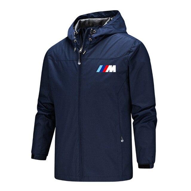 Bmw M Power Jacket Men Lightweight Hooded Zipper Waterproof Coat Windproof Warm Solid Color Fashion Male Coat Outdoor Sportswear 6