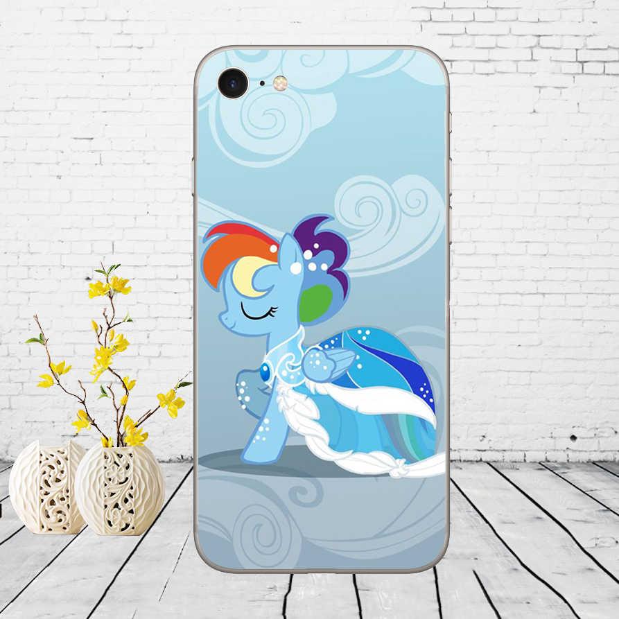 165D My Little Pony Rainbow Dash Clouds Дизайн Мягкий силиконовый чехол для iPhone 5 5S SE 6 6s 8 plus 7 7 Plus X XS SR MAX чехол
