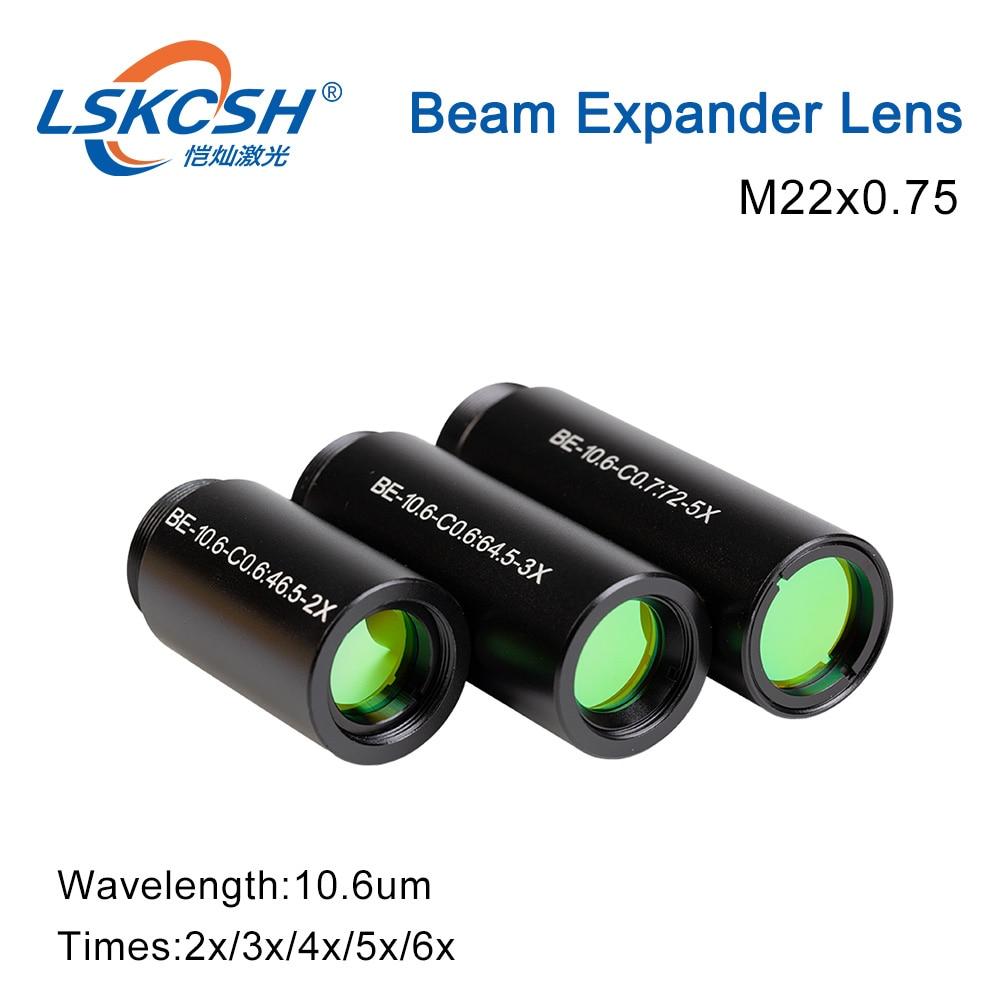 LSKCSH laser CO2 10600nm extension de faisceau Laser 2X 3X 4X 5X 6X lentilles de galvanomètre optique faisceau étendre pour Machine de marquage Laser Co2