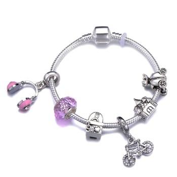 Cute Mickey Mouse Themed Bracelet Bracelets Jewelry New Arrivals Women Jewelry Metal Color: 32 Length: 20cm