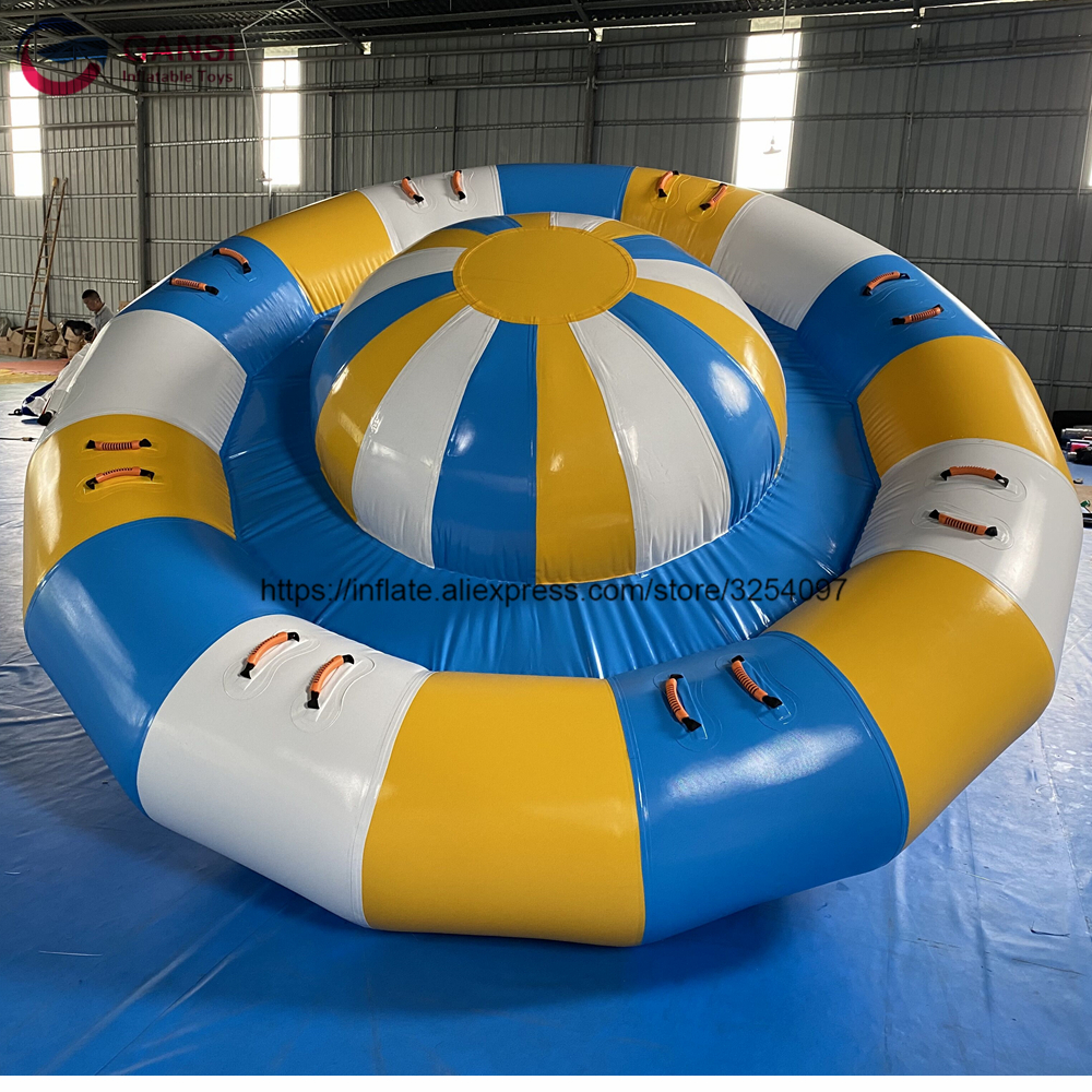 3.5m diameter inflatable disco towable boat inflatable water saturn with rotator