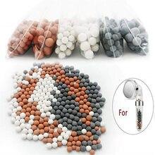Сменные минеральные шарики, бусины, минеральные ионы отрицательных ионов, подходят для ионного фильтра, насадка для душа QE