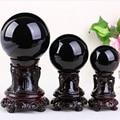 Натуральный камень Обсидиан Хрустальный шар для украшения дома мяч Diviner круговой кристаллами Свадебные аксессуары для фотосъемки